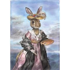Art Print 'MADAM LE BUN'