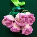 Bunch of Roses, crochet made flowers, handmade in Australia, fake plants
