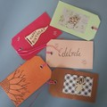 Coloured gift tags (5)