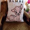 """Sitting Bambi"" Reversible Cushion Cover"