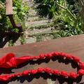 Silk fabric necklace, lightweight, silk necklace, anti allergenic necklace, fabr