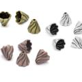 6 Large Twist Cone Bead Caps Choice 3 Colours Antique Copper Bronze Silver
