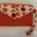Foxy Ultrasuede Harlequin Pouch