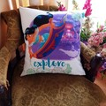 """""""Explore New Worlds """" Cushion Cover"""
