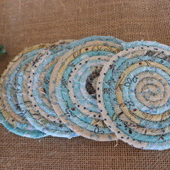 Coasters - Teal Mix four pack