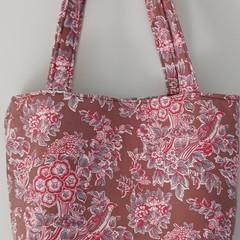 Jane Austen - Charlotte Retro Fabric  Tote Shoulder Bag Zipped Internal Divider