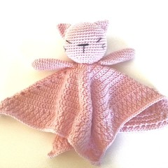 Cat Lovey Blanket/toy  - crocheted toy
