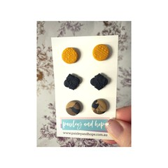 Polymer Clay Stud Pack #3