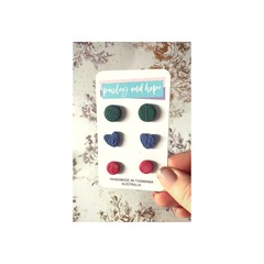 Polymer Clay Stud Pack #5