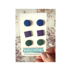 Polymer Clay Stud Pack #8