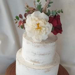 Flower Cake Topper Boho Wedding Rustic Engagement