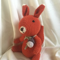 Squirrel - crocheted, knitted, softies