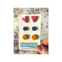 Polymer Clay Stud Pack #1