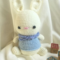 Rabbit  -  crocheted, knitted, softies