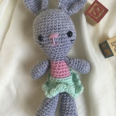 Bunny  -  crocheted, knitted, softies