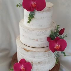 Wedding Cake Flowers 3 Piece Orchids