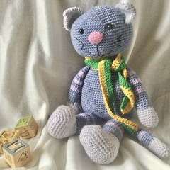 Milo the Cat - crocheted toy