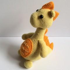 Crochet dinosaur, Dino, Amigurumi, nursery, toy, handmade, softie
