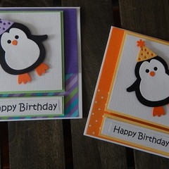 Handmade Card -Party Penguin - Birthday Day Card