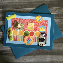 Birthday Card with M.M. and a Zebra for a Child