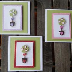 Handmade Card -Topiary Tree Card
