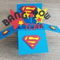 Card In a Box - Superman - Birthday - Personalised