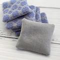 Handwoven Tasmanian Lavender Bag Sachet Organic Cotton Linen Handmade Heirloom