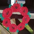 Free Standing Lace Poppy Wreaths - 3 colour choices