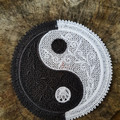 Free Standing lace Yin and Yang