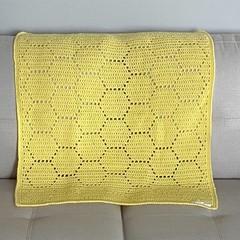 Handmade crochet 'Hexagon' blanket