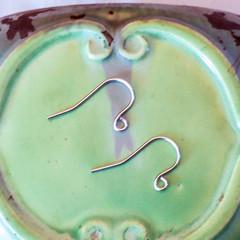 Custom 30 pairs sterling silver hooks