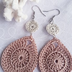 Blush and Oyster Earrings