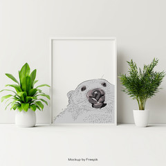 Wombat Poster - A3 - Add text for FREE