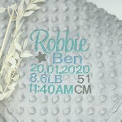 Personalised baby blanket   Newborn essential   Newborn gift idea