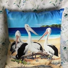 Pelican Throw Cushion