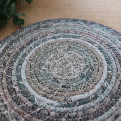 Medium Rope Heat pads- Lynette Anderson Mix ( Muted Duck Blue)
