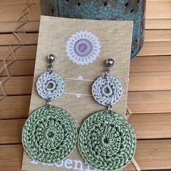 Peridot Crochet Earrings