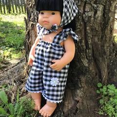 Flutter Sleeve Romper Miniland dolls clothes