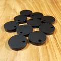 Black satin finish earring topper blanks -15mm