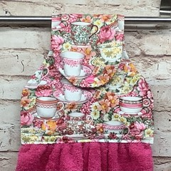 Teacups Hanging Hand Towel