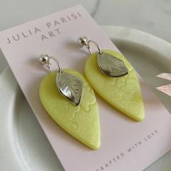 Lemon Drops - Reverse Teardrop-Shaped Handmade Drop Earrings
