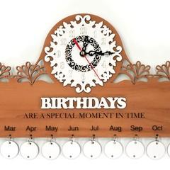 Birthday Calendar Clock