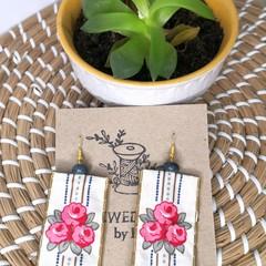 Flower Fabric Earrings