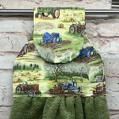 Tractors Hanging Hand Towel