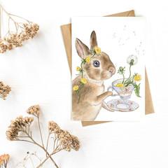 Greeting Card 'Dandelion Tea'