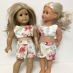 Dolls shorts and top to Fit Our Generation and American Girl Dolls