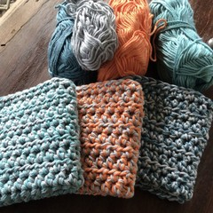 Thick Cotton/Bamboo hand crocheted dish cloth.