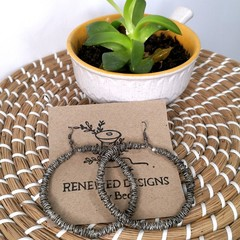 Upcycled Statement Hoops