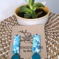 Blue Retro Fabric Earrings