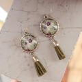 Olive Floral Emma Earrings